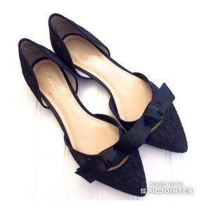 Ivanka Trump Dressy Lace Bow Flats size 7